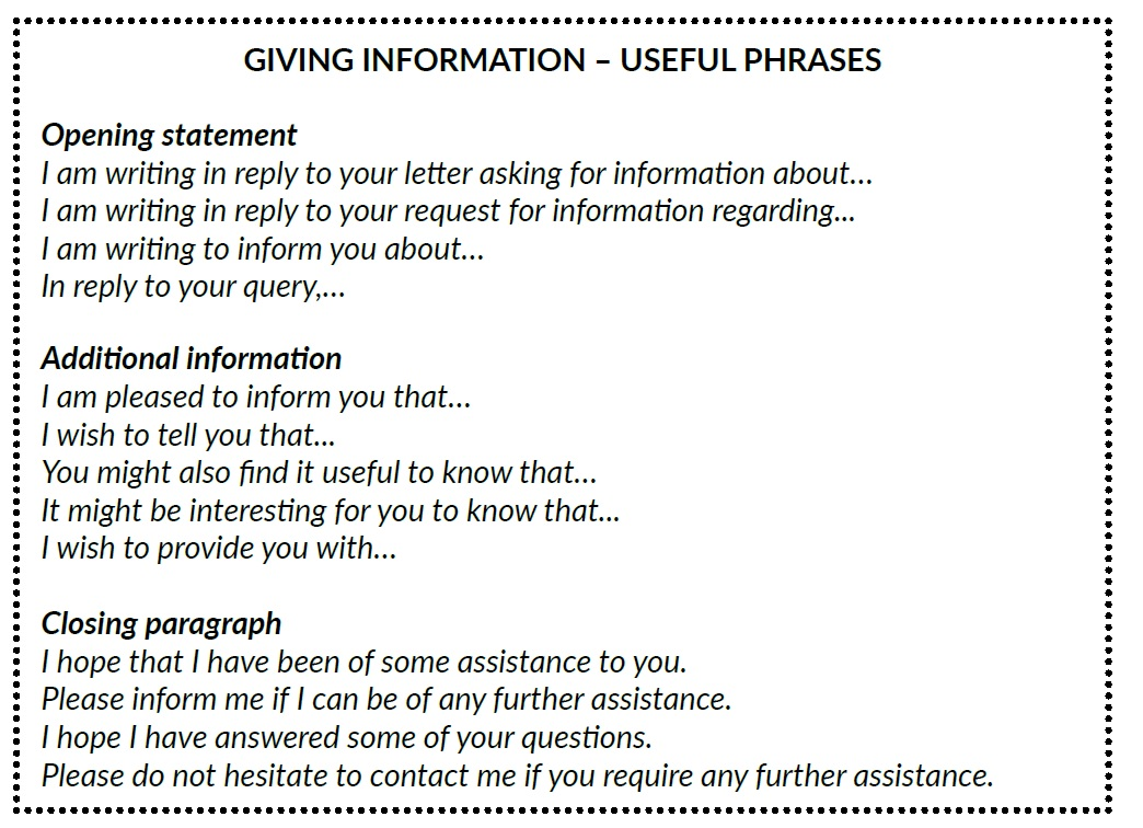 use appropriate expressions to give and request information